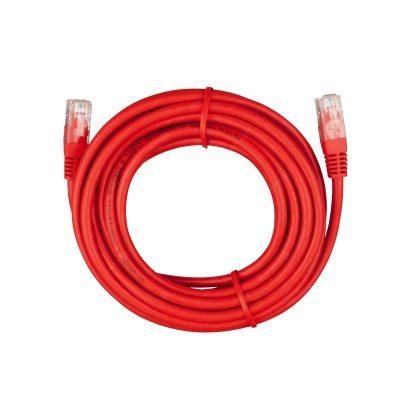 کابل شبکه CAT6 متراژ ۵ متری قرمز/طوسی برند Huatong